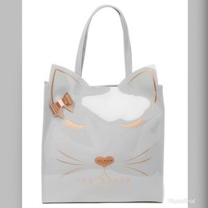 Ted Baker Taby Cat Glitter  Bow Large Tote